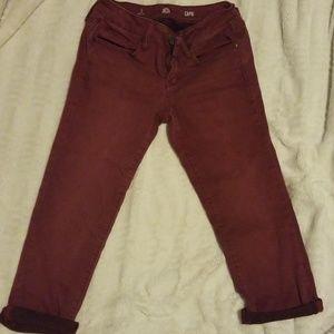 Maroon Capri Pants